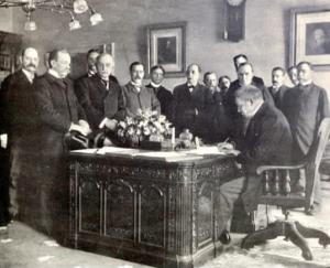 Firma del Tratado de París