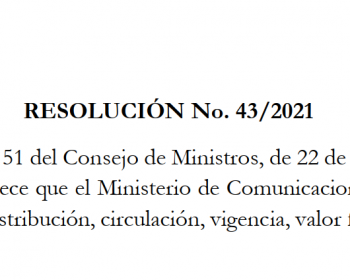RESOLUCIÓN No. 432021